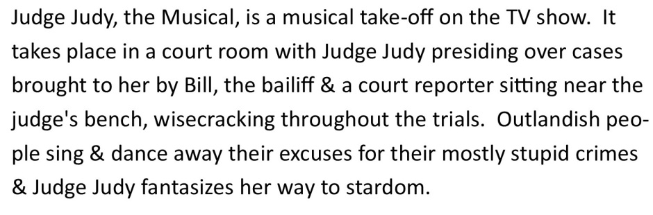 Judge Judy description