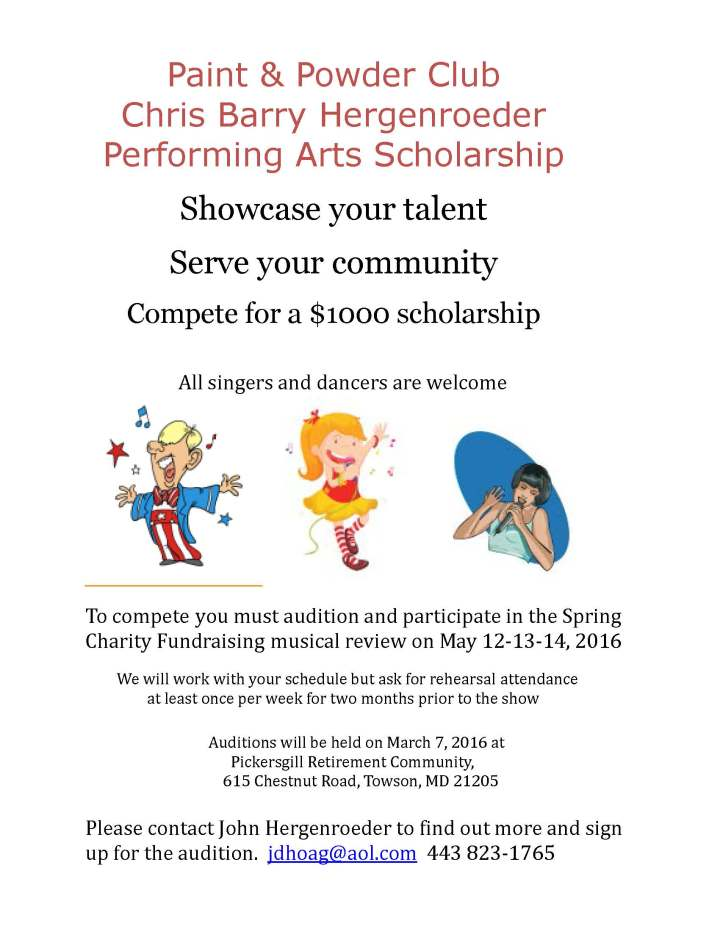 P&P Scholarship flyer